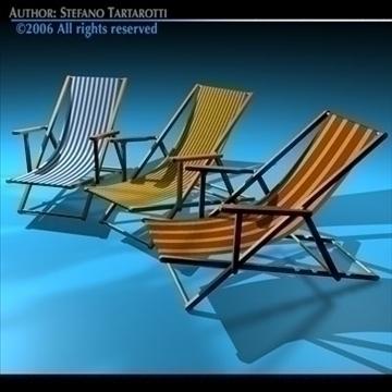 deck chair 3d model 3ds dxf c4d obj 81903