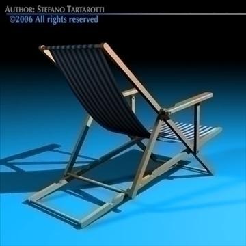deck chair 3d model 3ds dxf c4d obj 81904