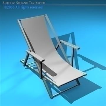 deck chair 3d model 3ds dxf c4d obj 81905