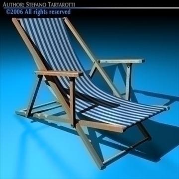 deck chair 3d model 3ds dxf c4d obj 81906