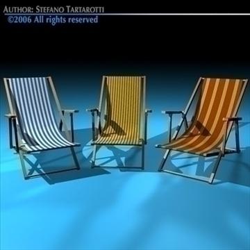 deck chair 3d model 3ds dxf c4d obj 81909
