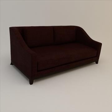 designer fabric sofa 3d model 3ds max lwo texture obj 110734