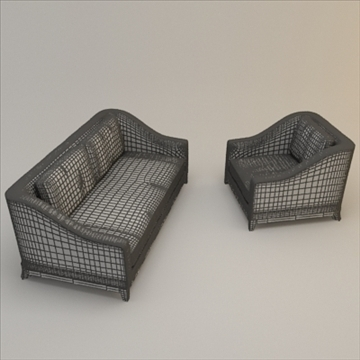 Designer fabric seating set ( 72.3KB jpg by robkius )