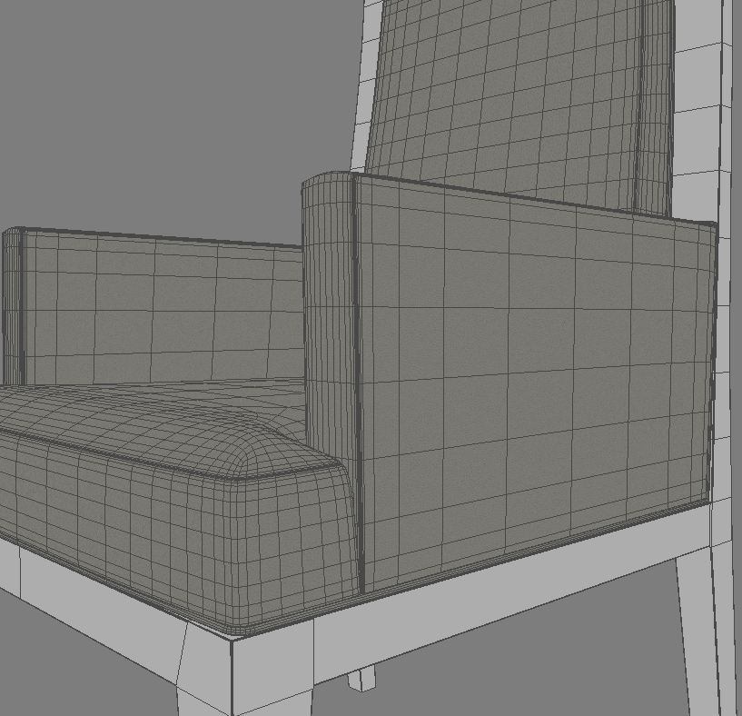 dining armchair 3d model 3ds max dxf fbx obj 114941