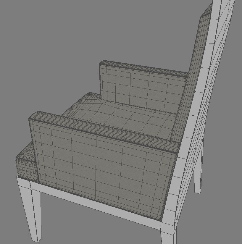 dining armchair 3d model 3ds max dxf fbx obj 114942