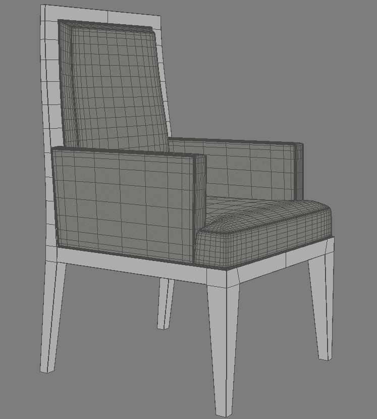 dining armchair 3d model 3ds max dxf fbx obj 114944