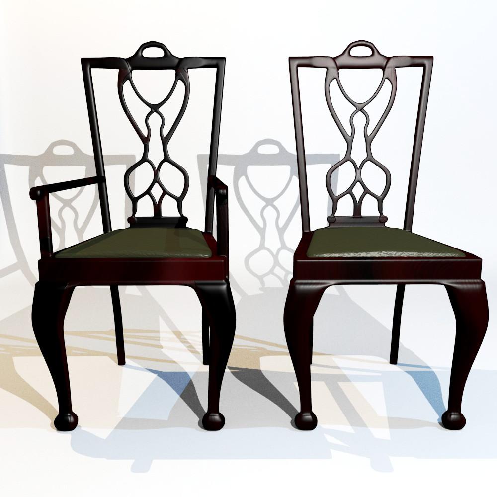 karrige ngrënie të vendosur 3d model fbx përzierje me xhami 118643
