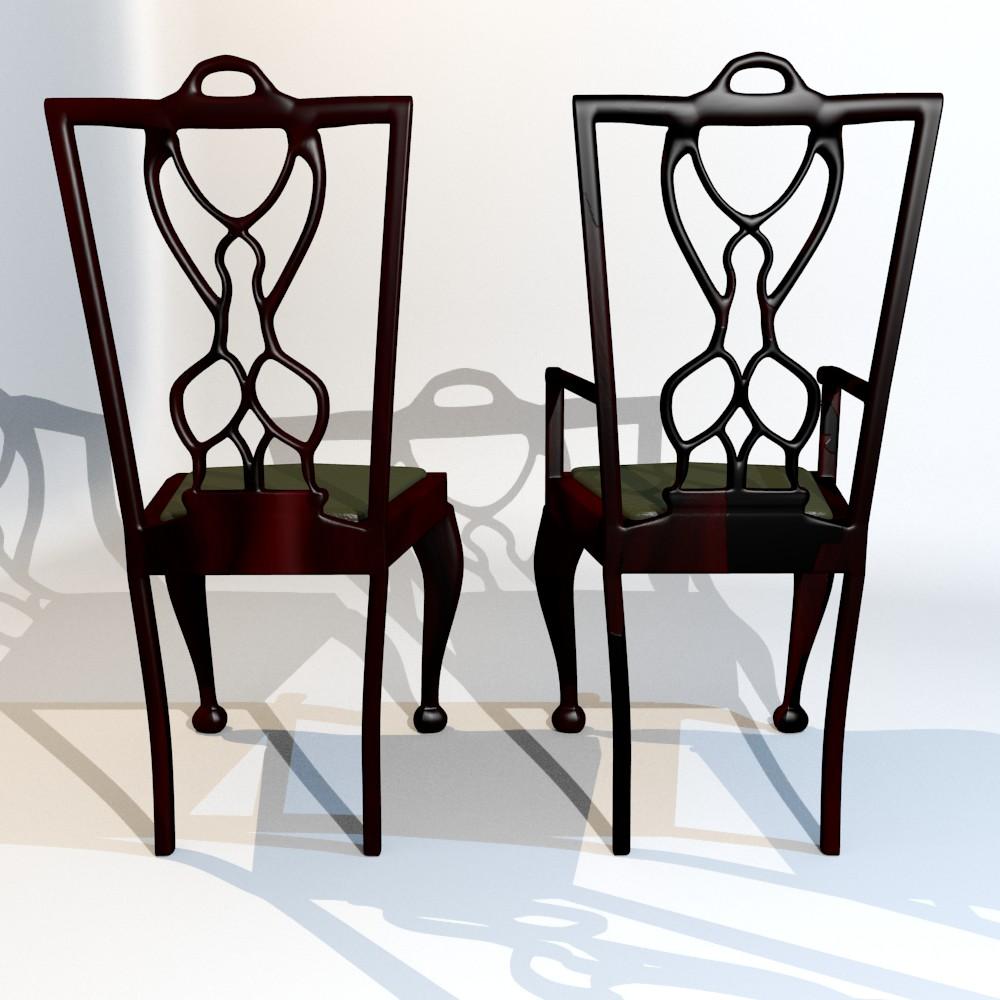 karrige ngrënie të vendosur 3d model fbx përzierje me xhami 118646