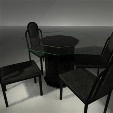 dining room glass table and chairs 3d model ma mb 81446