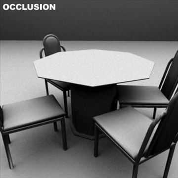 dining room glass table and chairs 3d model ma mb 81447