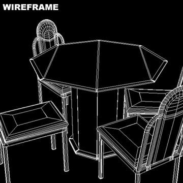 dining room glass table and chairs 3d model ma mb 81448