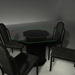 Dining Room Glass Table and Chairs ( 50.63KB jpg by kaththomsonart )