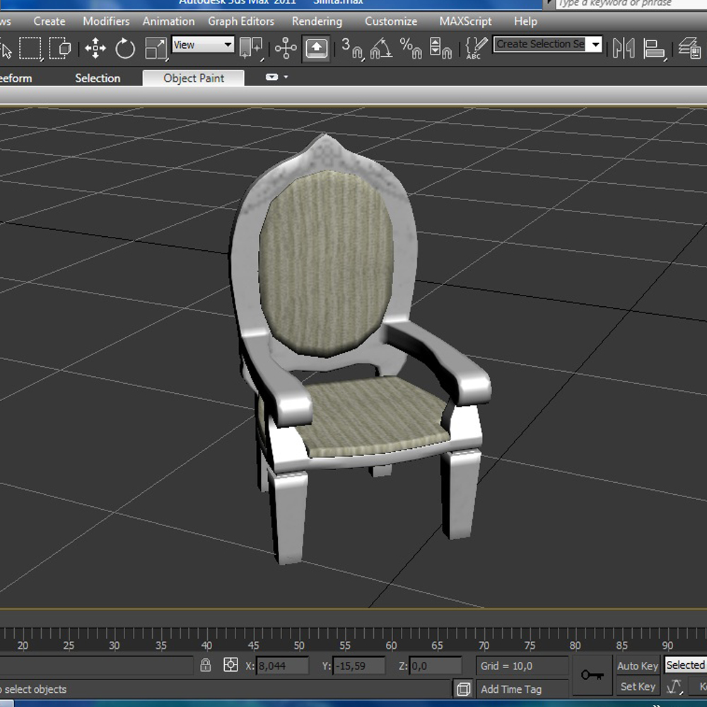 dolls pushchair 3d model 3ds max fbx ma mb obj 157410