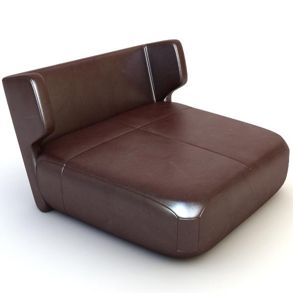 etienne baxter itālija armless krēsls 3d modelis 3ds max fbx faktūra obj 114835