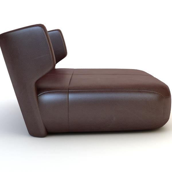etienne baxter italy armless chair 3d model 3ds max fbx texture obj 114836