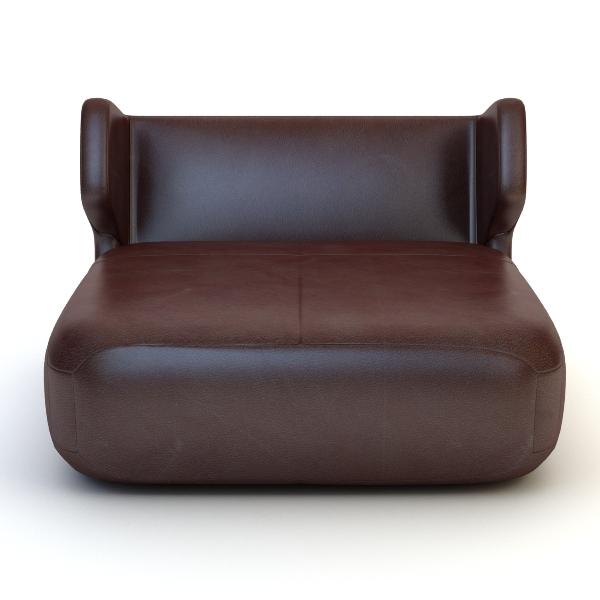 etienne baxter italy armless chair 3d model 3ds max fbx texture obj 114839