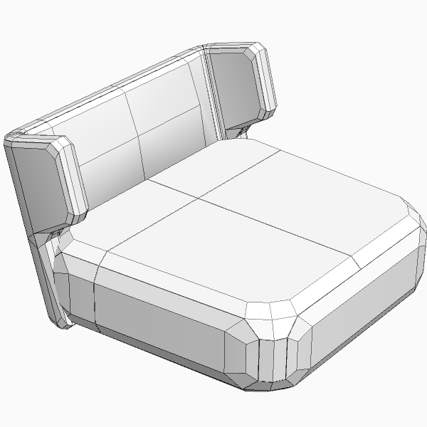 etienne baxter italy armless chair 3d model 3ds max fbx texture obj 114840