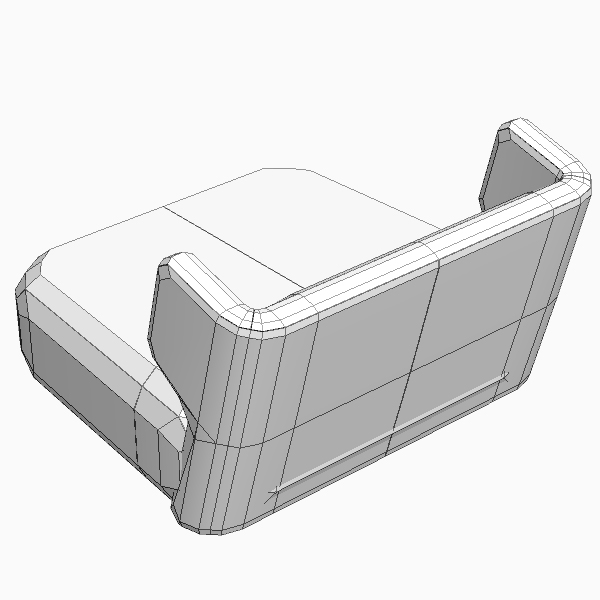 etienne baxter italy armless chair 3d model 3ds max fbx texture obj 114841