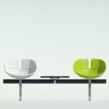 fjord bar 3 places table 3d model 3ds max dwg fbx obj 87585
