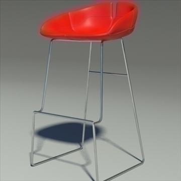fjord bar stool high red 3d model 3ds max dwg fbx obj 88556