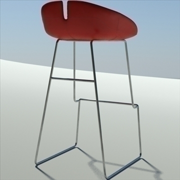 fjord bar stool high red 3d model 3ds max dwg fbx obj 88557