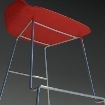 fjord bar stool high red 3d model 3ds max dwg fbx obj 88559