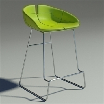 fjord bar stool low green 3d model 3ds max dwg fbx obj 88525