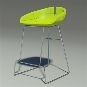fjord bar stool low green 3d model 3ds max dwg fbx obj 88526