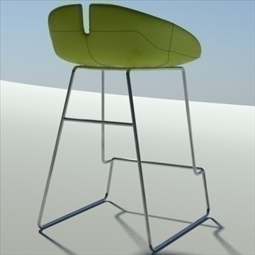fjord bar stool low green 3d model 3ds max dwg fbx obj 88527