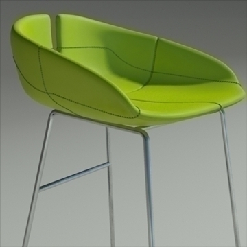 fjord bar stool low green 3d model 3ds max dwg fbx obj 88528