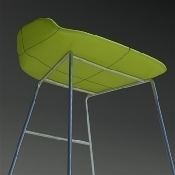 fjord bar stool low green 3d model 3ds max dwg fbx obj 88529