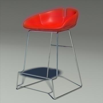 fjord bar stool low red 3d model 3ds max dwg fbx obj 88541