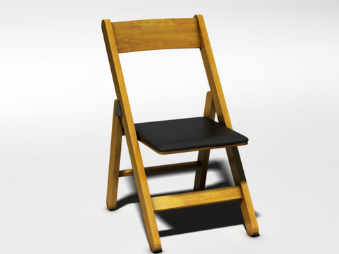 folding chair 3d model 3ds max c4d lwo ma mb obj 115848