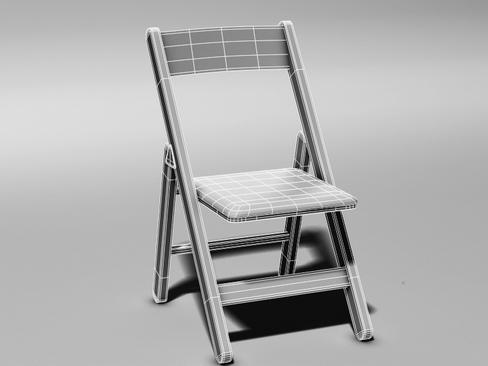 folding chair 3d model 3ds max c4d lwo ma mb obj 115849