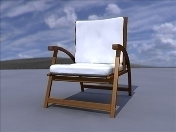 garden chair 3d model ma mb obj 82892