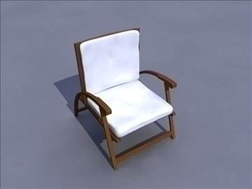 garden chair 3d model ma mb obj 82893
