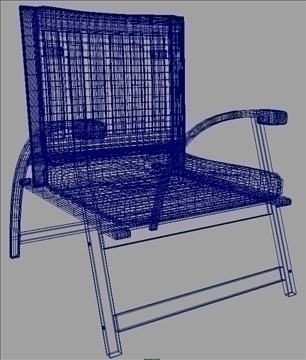 garden chair 3d model ma mb obj 82894