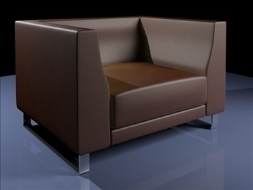 butaca ginevra 2009 3d model 3ds max obj 92225