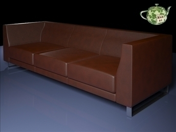 ginevra sofa 3 2009 3d model 3ds max fbx obj 92238
