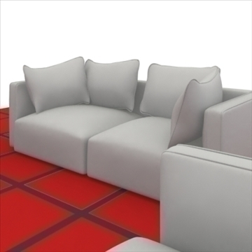 ginevra sofa composition 2 3d model 3ds max obj 80340