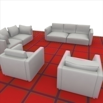 ginevra sofa composition 2 3d model 3ds max obj 80342
