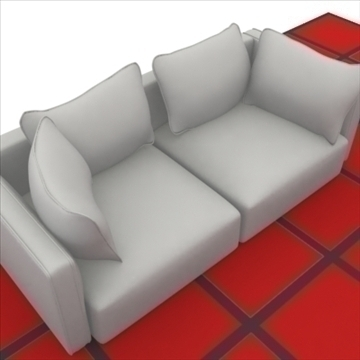 ginevra sofa composition 2 3d model 3ds max obj 80343