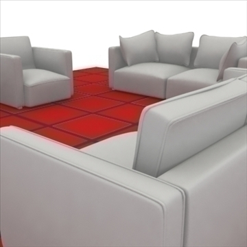 ginevra sofa composition 2 3d model 3ds max obj 80344