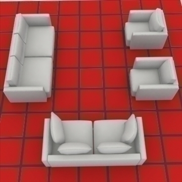 ginevra sofa composition 2 3d model 3ds max obj 80346