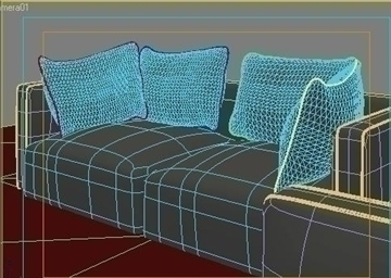 ginevra sofa composition 2 3d model 3ds max obj 80347