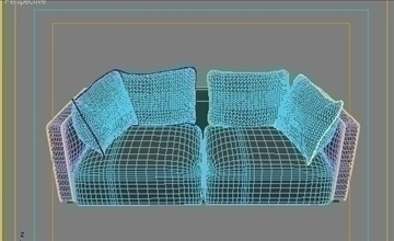 ginevra sofa composition 2 3d model 3ds max obj 80348