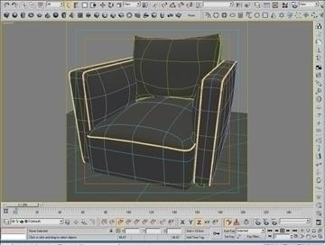 globe sofa 3d model 3ds max 80319