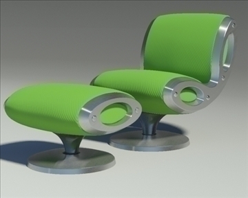 gluon armchair and pouf 3d model 3ds max dwg fbx obj 91188