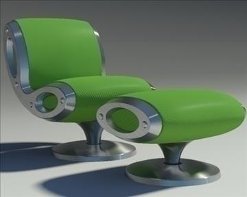 gluon armchair and pouf 3d model 3ds max dwg fbx obj 91189