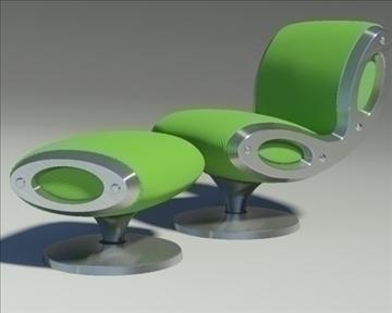 gluon armchair and pouf 3d model 3ds max dwg fbx obj 91190